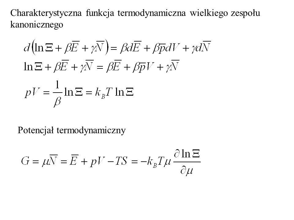 Charakterystyczna funkcja termodynamiczna wielkiego zespołu kanonicznego