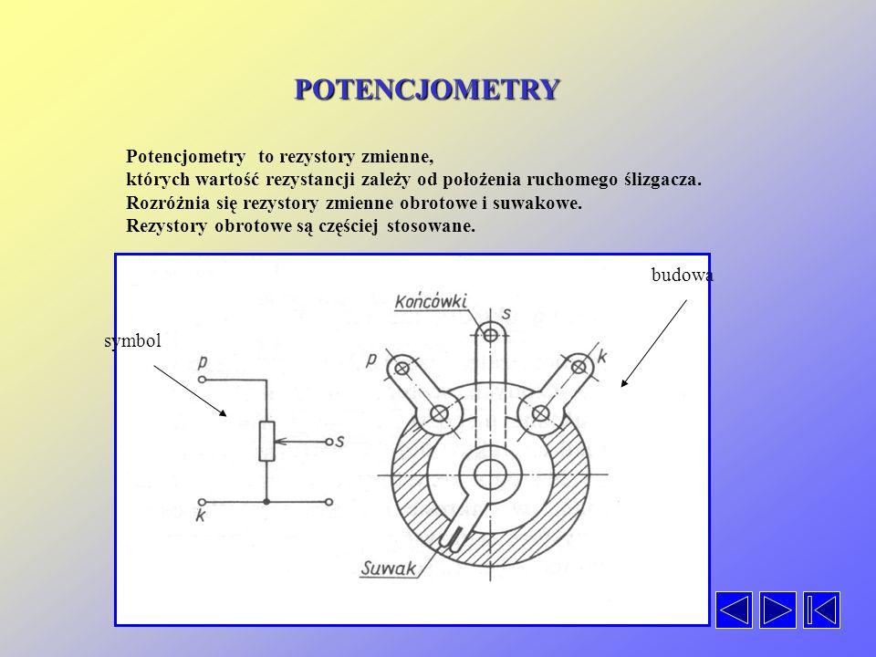 POTENCJOMETRY Potencjometry to rezystory zmienne,