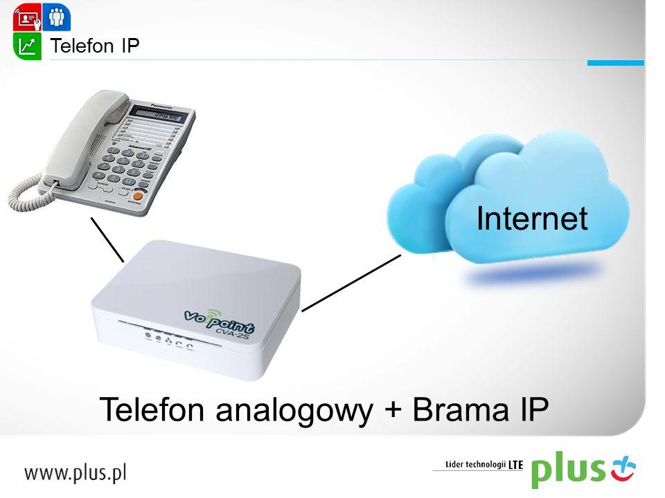 Telefon analogowy + Brama IP