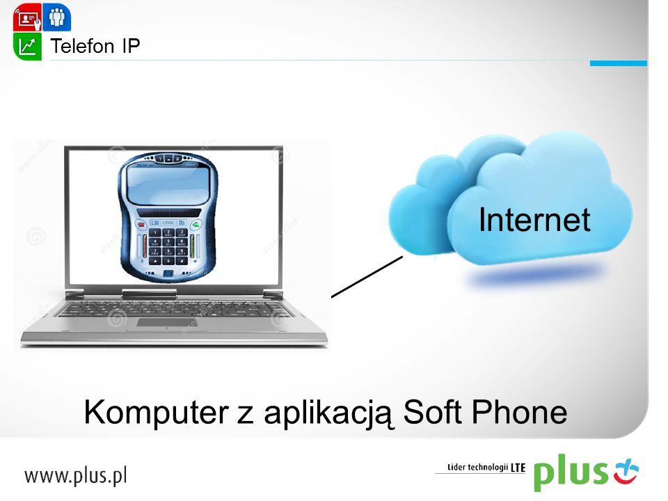 Komputer z aplikacją Soft Phone
