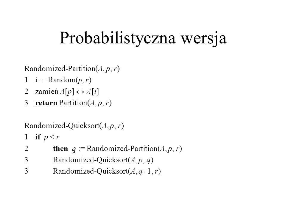 Probabilistyczna wersja