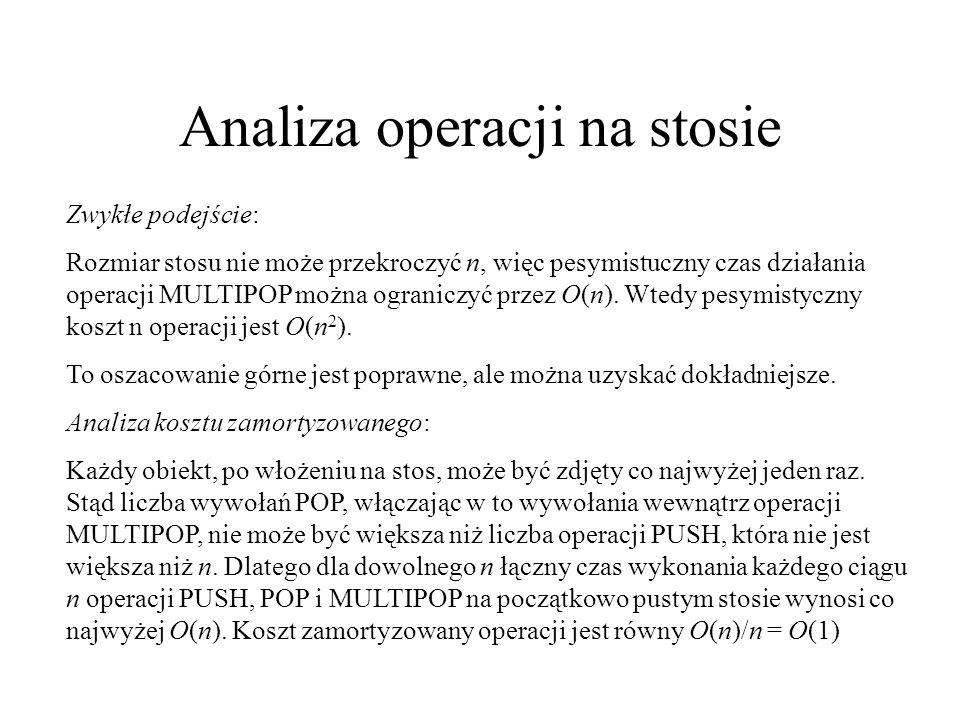 Analiza operacji na stosie