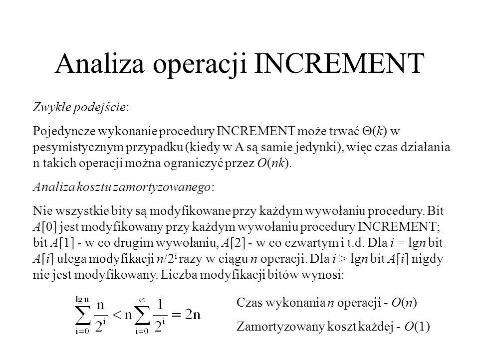 Analiza operacji INCREMENT