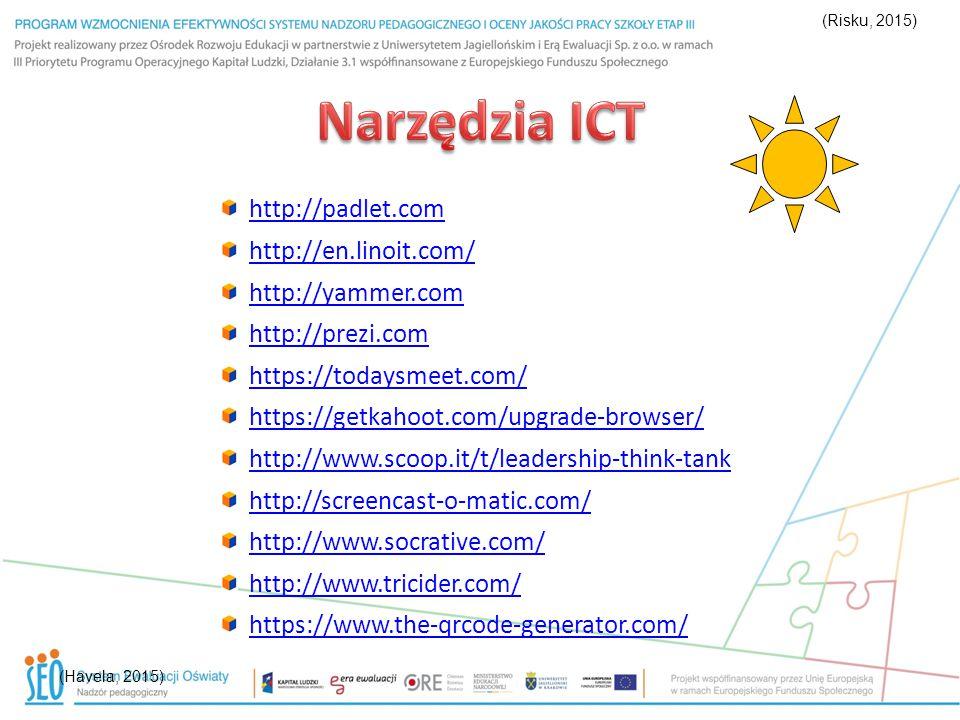 Narzędzia ICT http://padlet.com http://en.linoit.com/