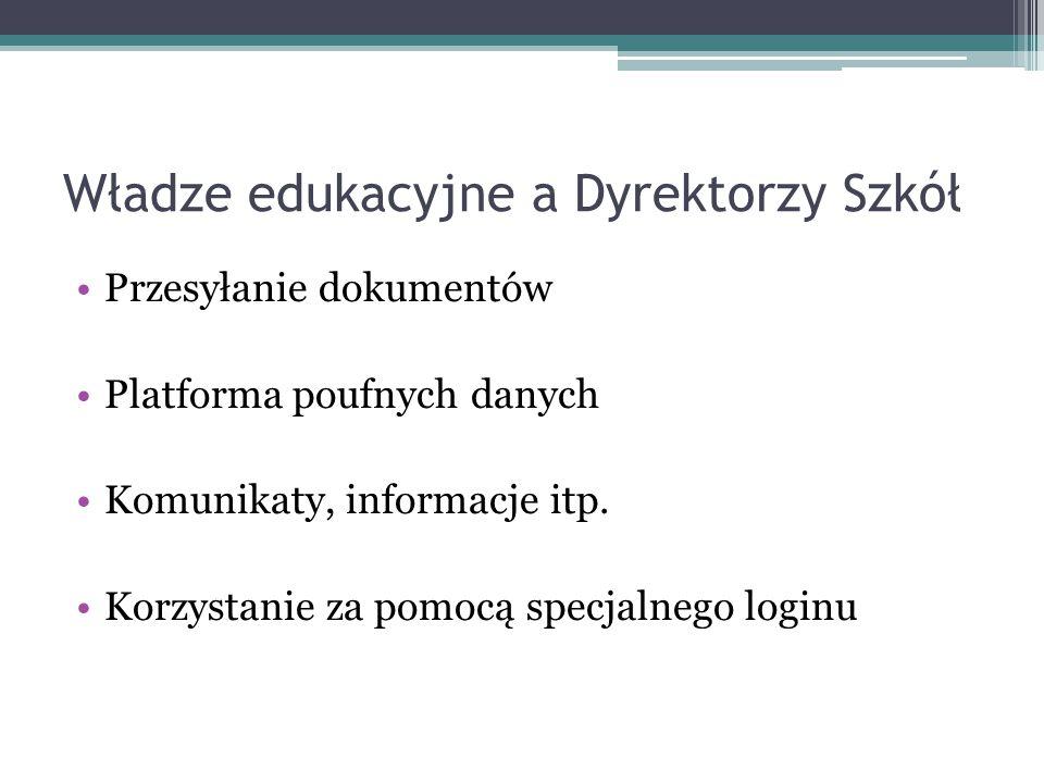 Władze edukacyjne a Dyrektorzy Szkół