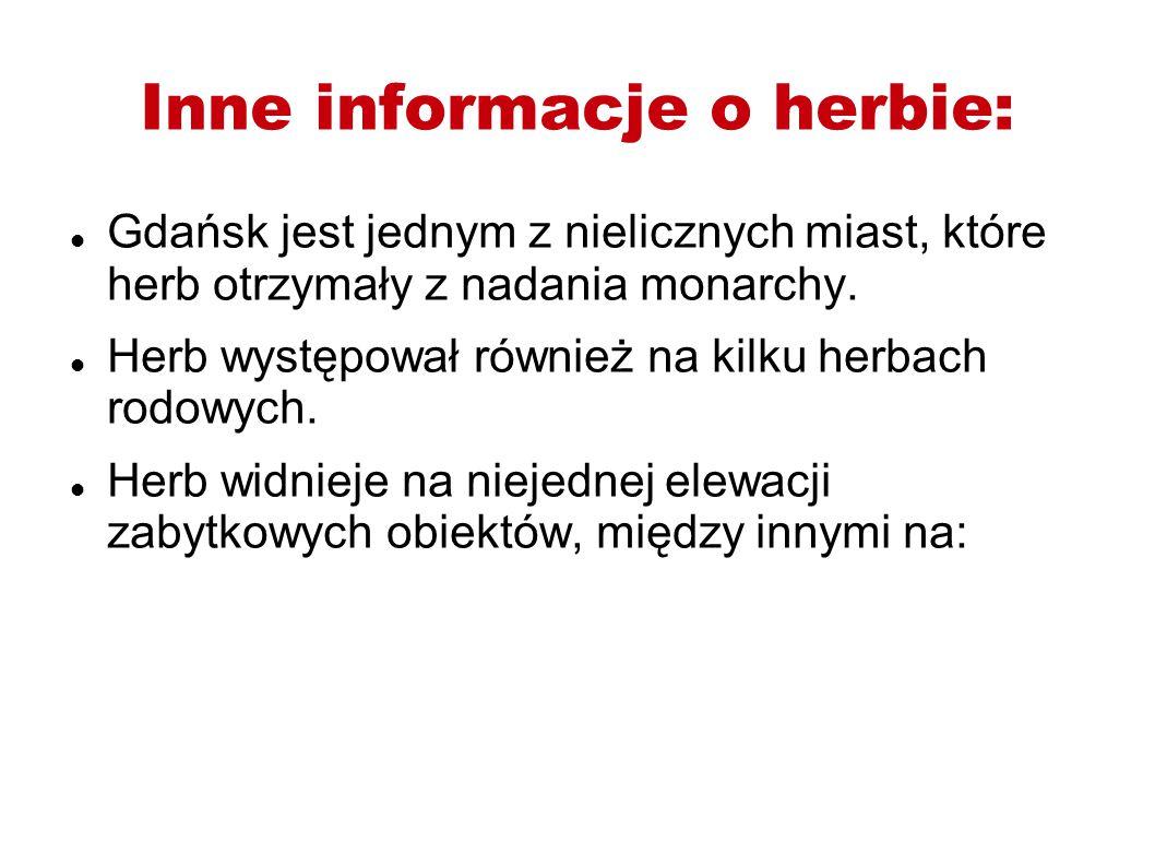 Inne informacje o herbie: