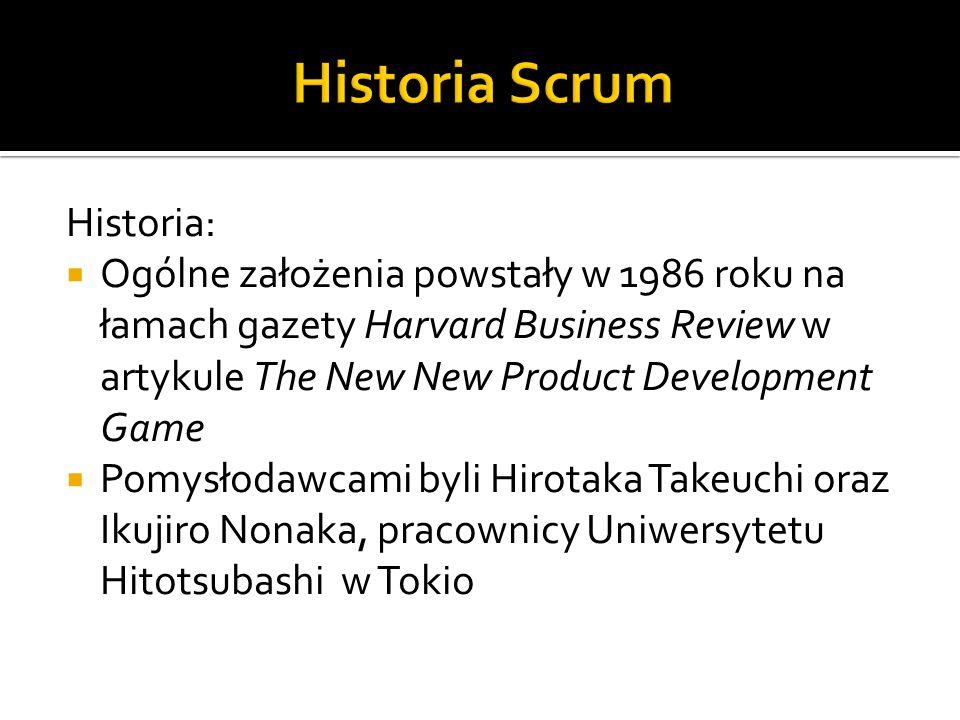 Historia Scrum Historia: