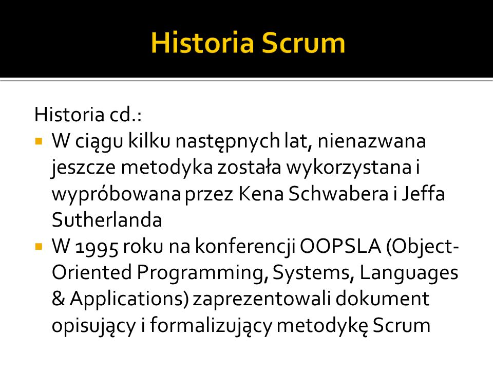 Historia Scrum Historia cd.: