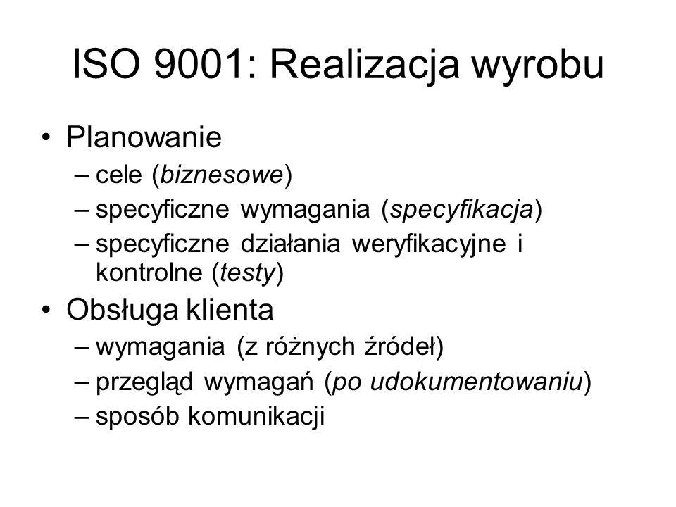 ISO 9001: Realizacja wyrobu