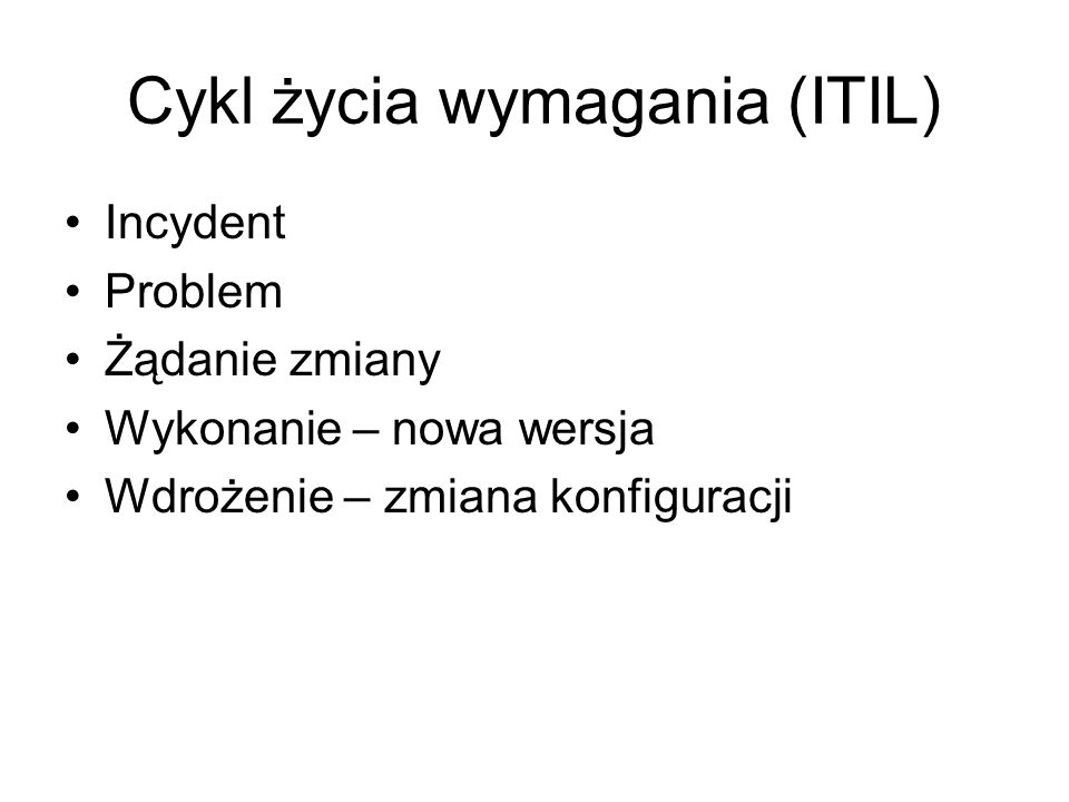 Cykl życia wymagania (ITIL)