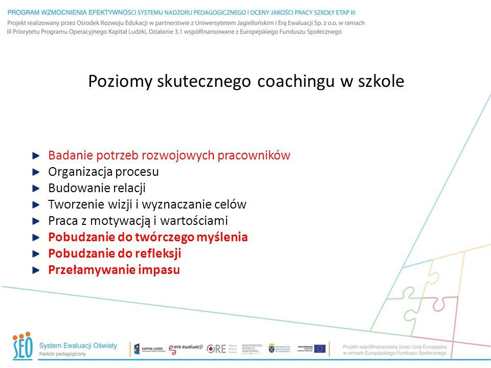 Poziomy skutecznego coachingu w szkole