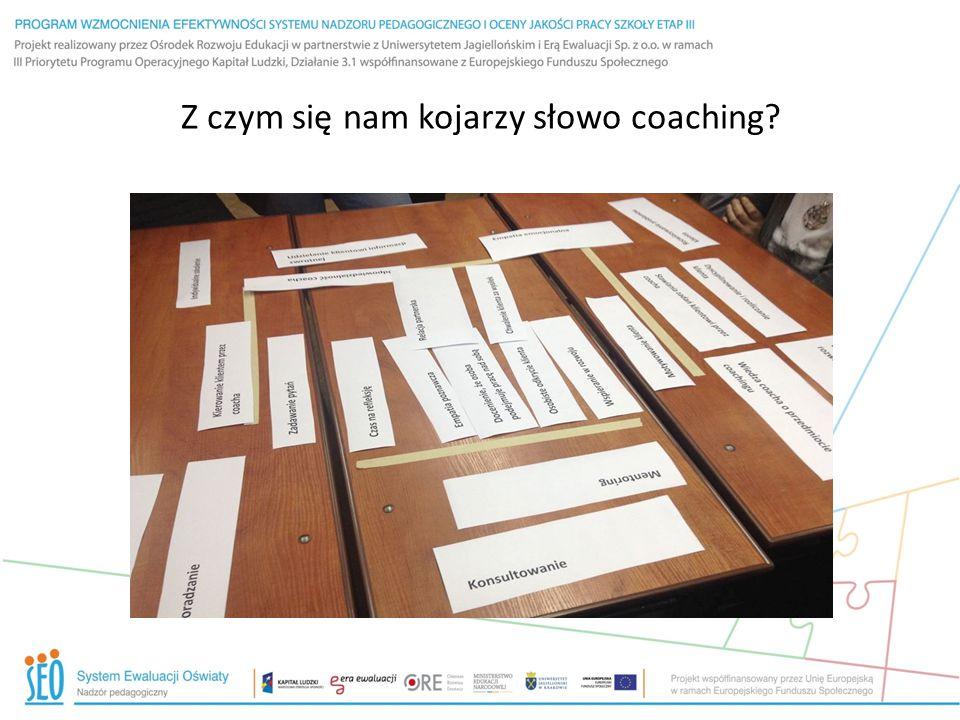 Z czym się nam kojarzy słowo coaching