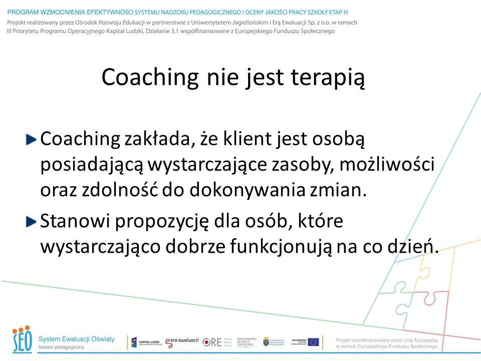 Coaching nie jest terapią