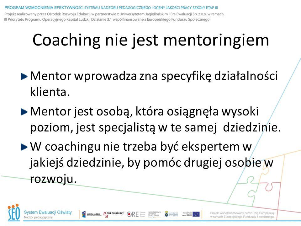 Coaching nie jest mentoringiem