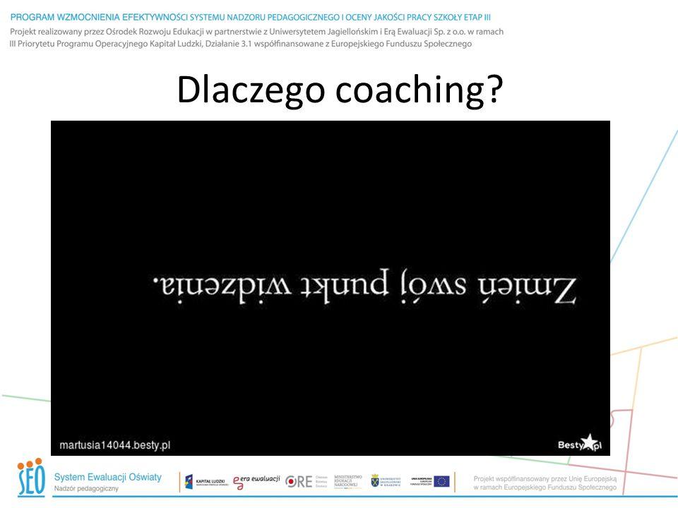 Dlaczego coaching