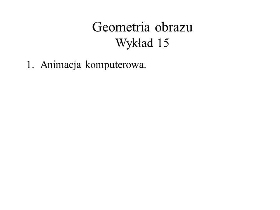Geometria obrazu Wykład 15