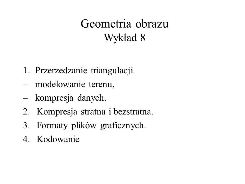 Geometria obrazu Wykład 8