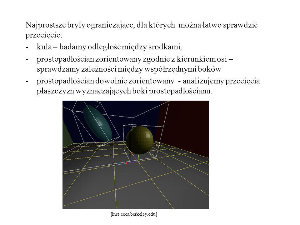 kula – badamy odległość między środkami,