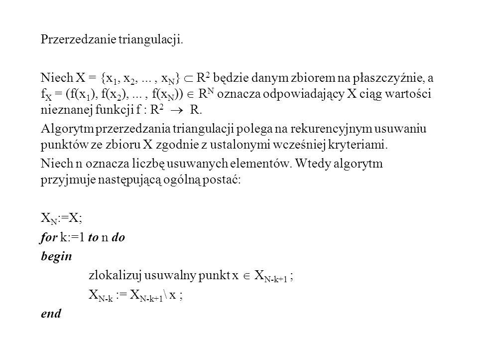 Przerzedzanie triangulacji.