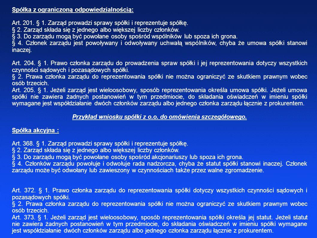 Przykład wniosku spółki z o.o. do omówienia szczegółowego.