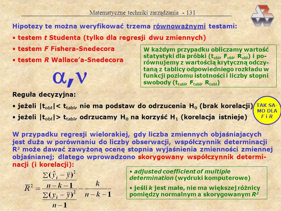 , Matematyczne techniki zarządzania - 131