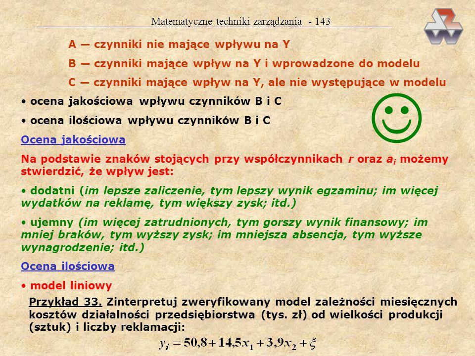  Matematyczne techniki zarządzania - 143