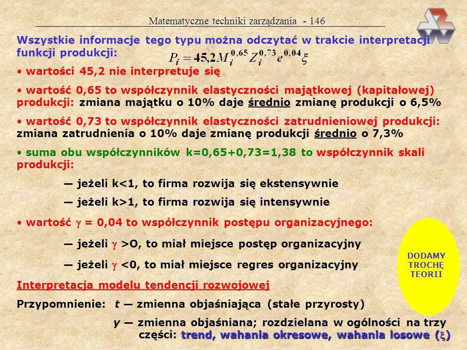 Matematyczne techniki zarządzania - 146