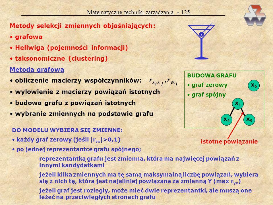  Matematyczne techniki zarządzania - 125