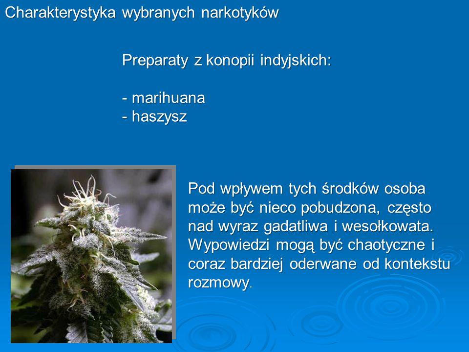 Charakterystyka wybranych narkotyków