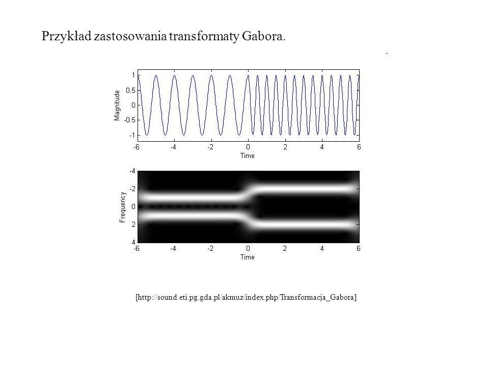 Przykład zastosowania transformaty Gabora.