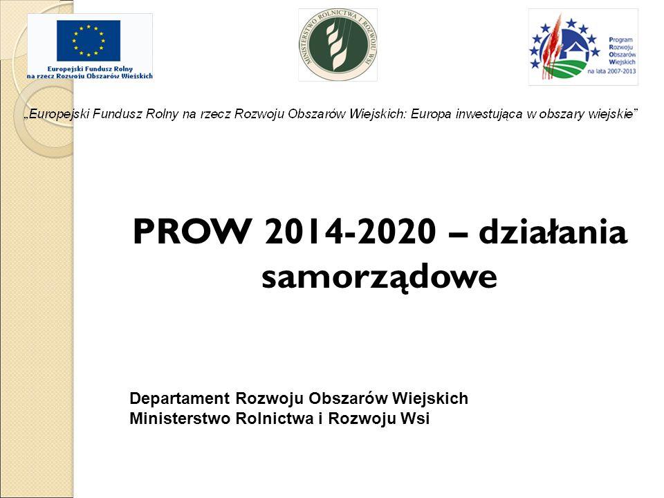 PROW 2014-2020 – działania samorządowe