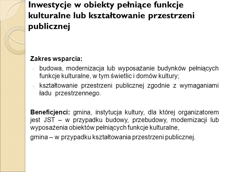 gmina – w przypadku kształtowania przestrzeni publicznej.