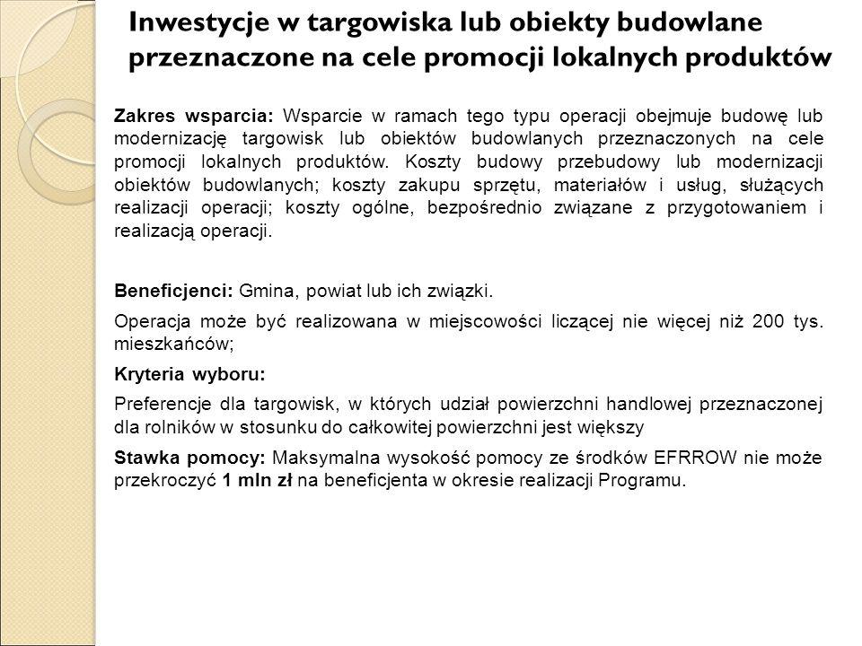 Beneficjenci: Gmina, powiat lub ich związki.