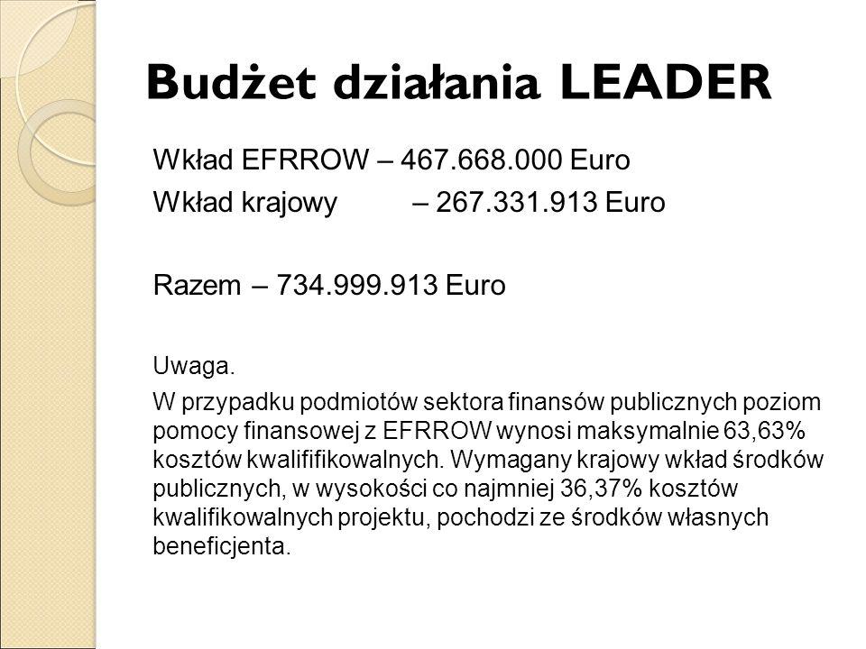 Budżet działania LEADER