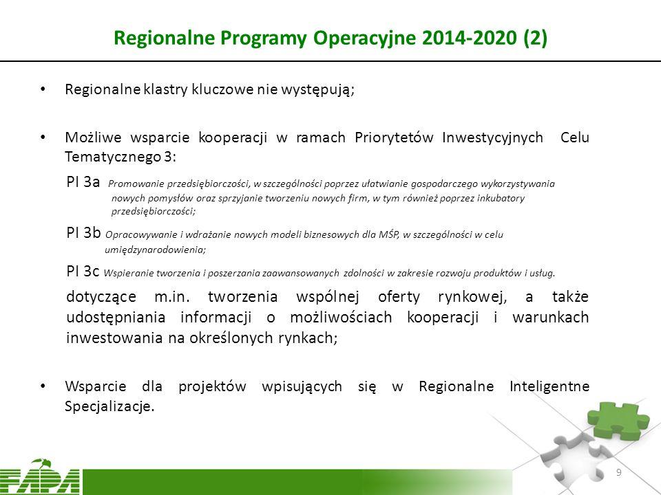 Regionalne Programy Operacyjne 2014-2020 (2)