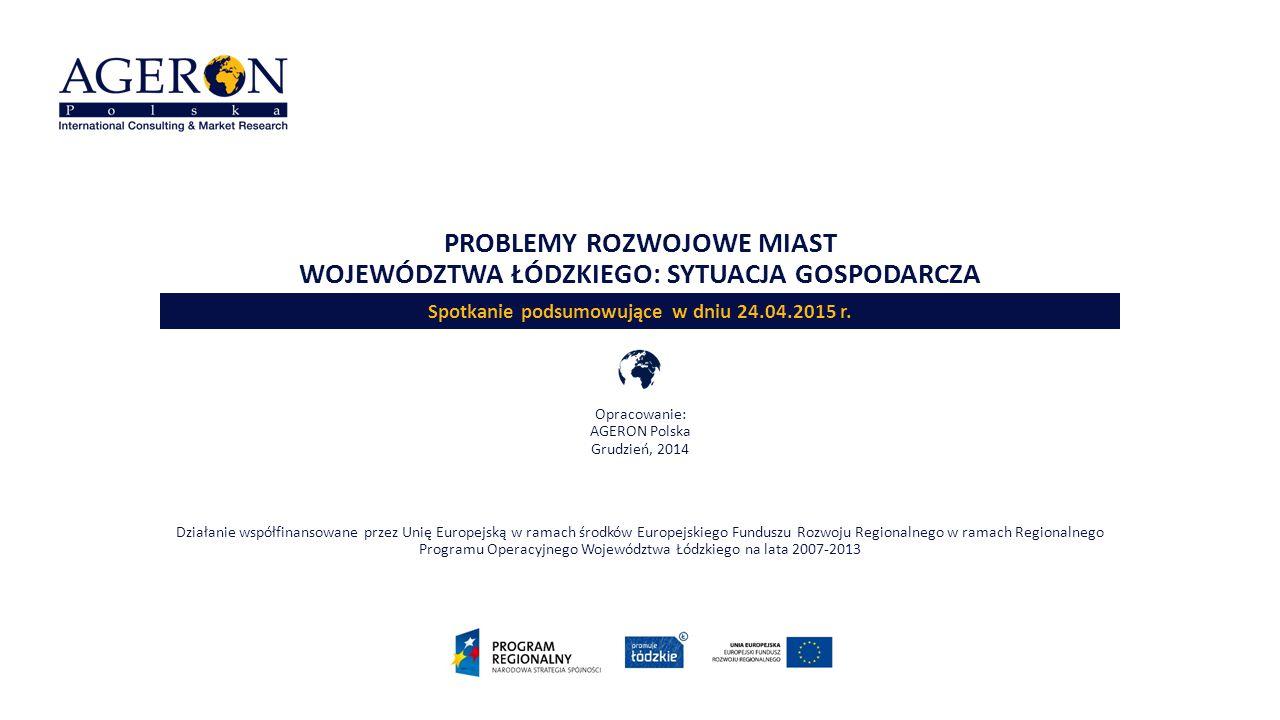 Problemy rozwojowe miast województwa łódzkiego: sytuacja gospodarcza