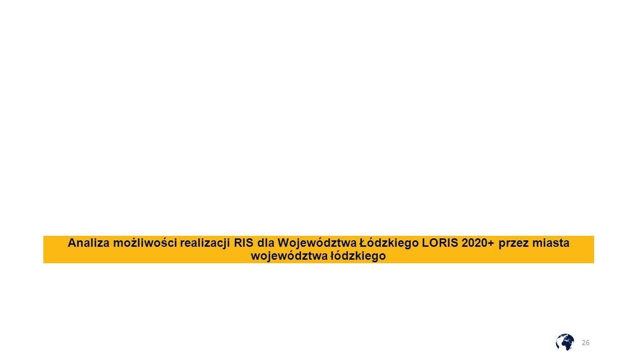 Analiza możliwości realizacji RIS dla Województwa Łódzkiego LORIS 2020+ przez miasta województwa łódzkiego