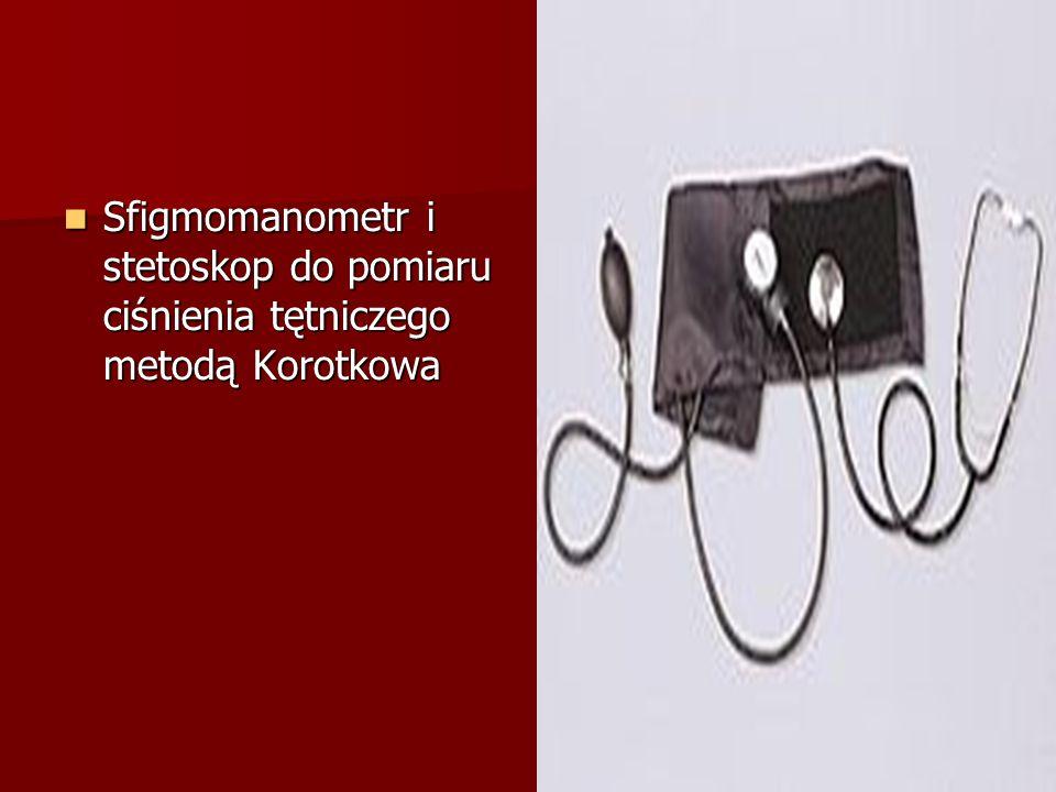 Sfigmomanometr i stetoskop do pomiaru ciśnienia tętniczego metodą Korotkowa