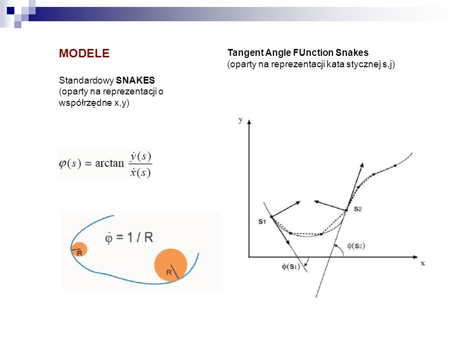 MODELE Tangent Angle FUnction Snakes