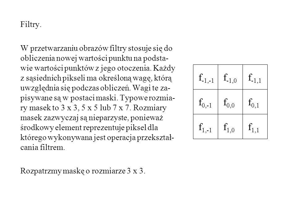 f1,1 f1,0 f1,-1 f0,-1 f0,0 f0,1 f-1,1 f-1,0 f-1,-1 Filtry.