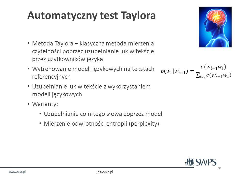 Automatyczny test Taylora