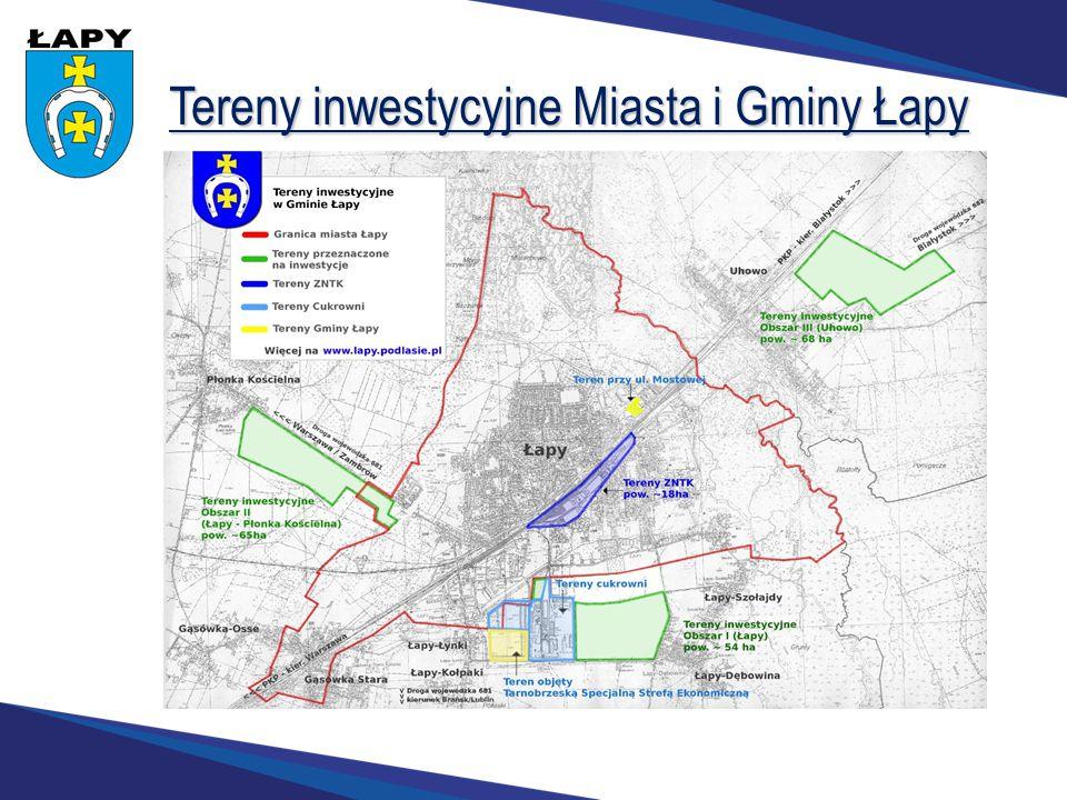 Tereny inwestycyjne Miasta i Gminy Łapy