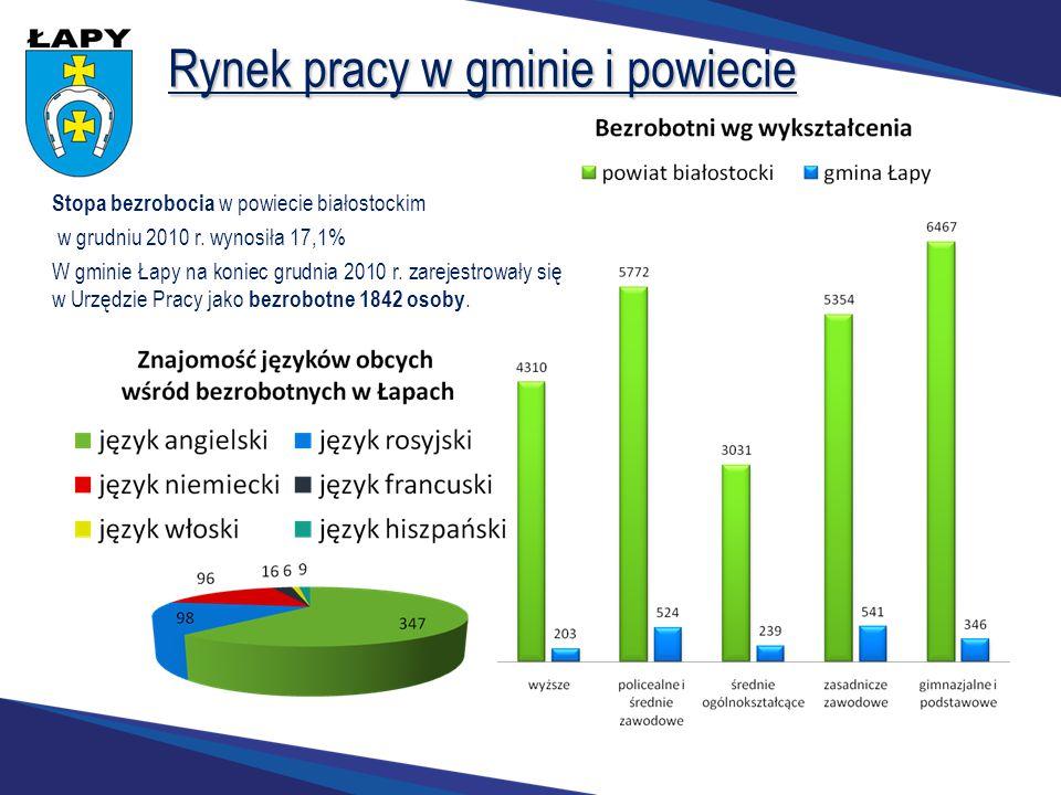 Rynek pracy w gminie i powiecie