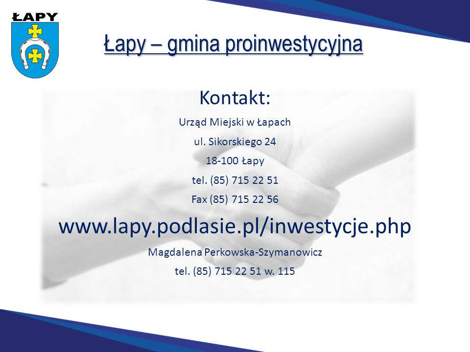 Łapy – gmina proinwestycyjna