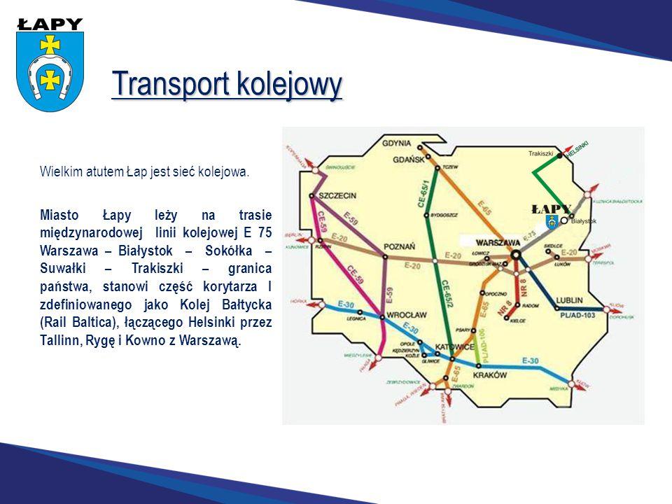 Transport kolejowy Wielkim atutem Łap jest sieć kolejowa.