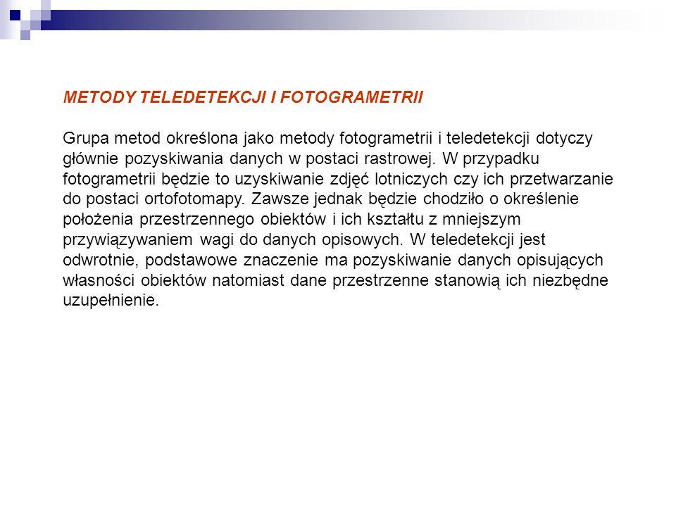 METODY TELEDETEKCJI I FOTOGRAMETRII
