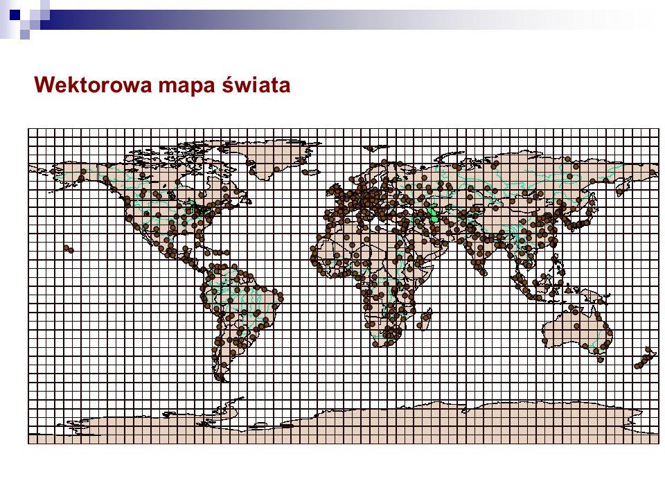 Wektorowa mapa świata