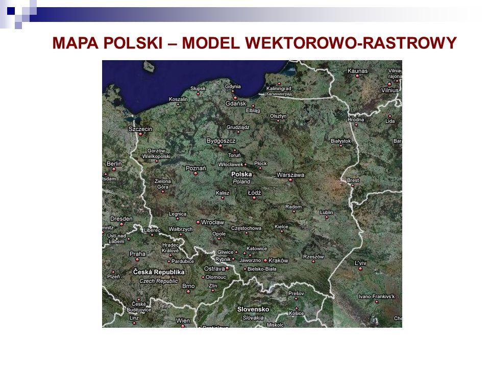 MAPA POLSKI – MODEL WEKTOROWO-RASTROWY
