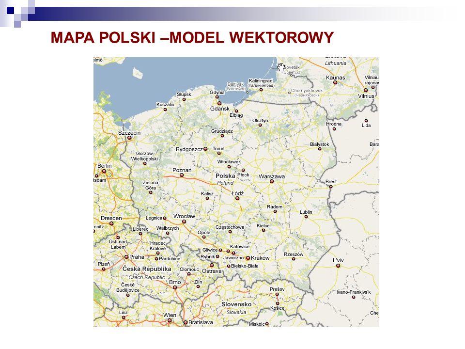 MAPA POLSKI –MODEL WEKTOROWY