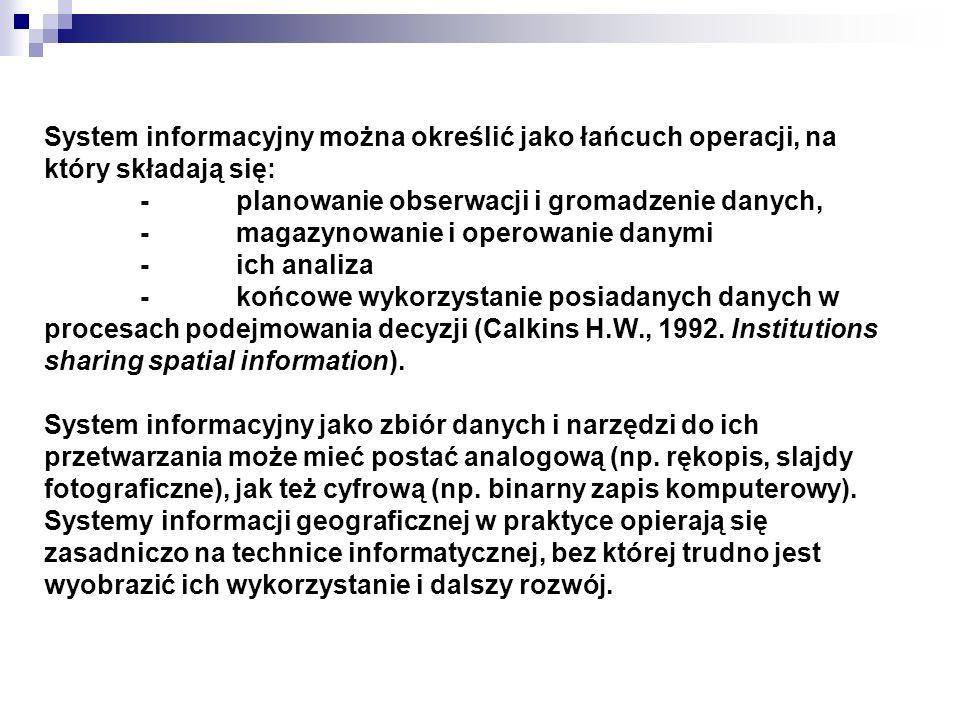 System informacyjny można określić jako łańcuch operacji, na który składają się: